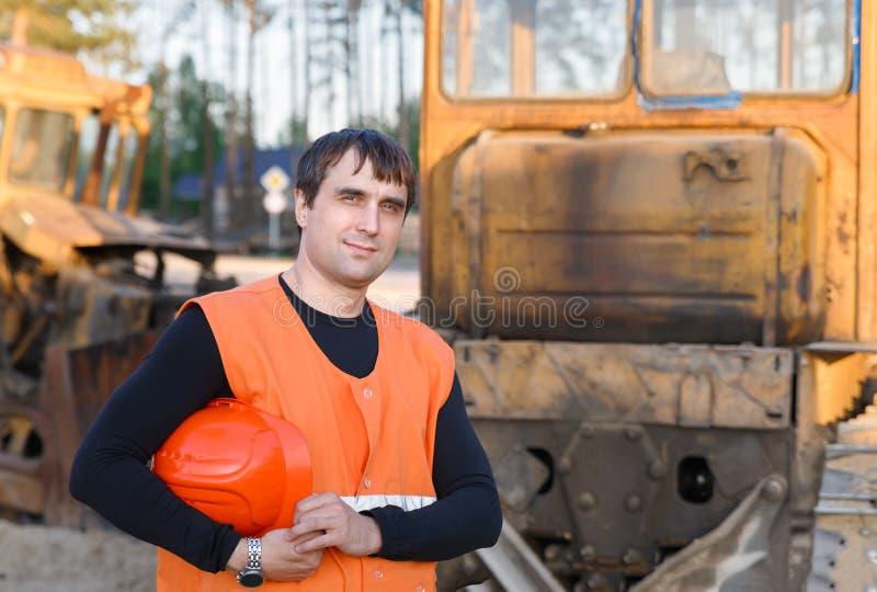 Portrait of man working stock photo