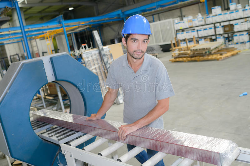 Download Portrait Man Working On Production Line Stock Image - Image of male, technology: 89688985