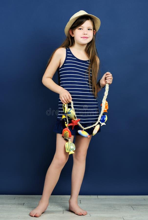 Portrait marin de style photo stock
