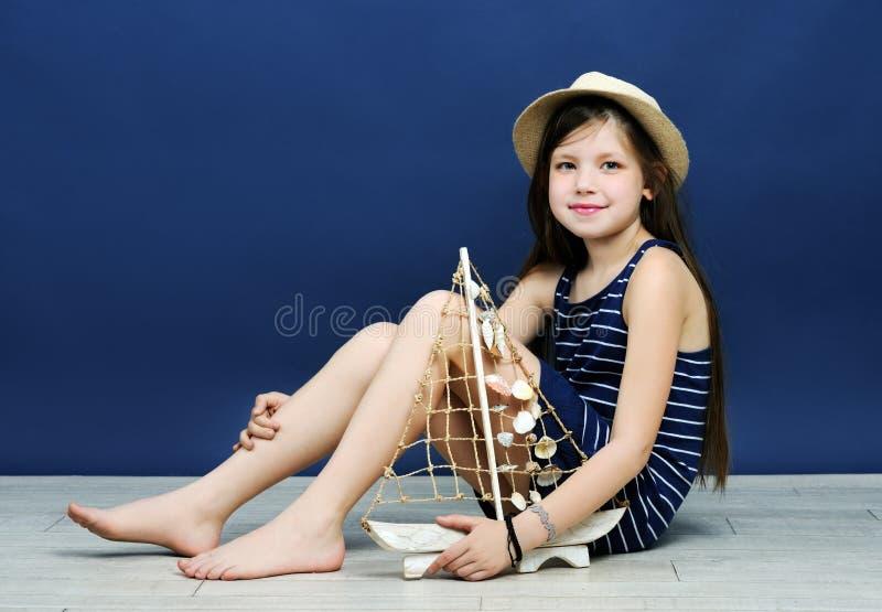 Portrait marin de style photo libre de droits