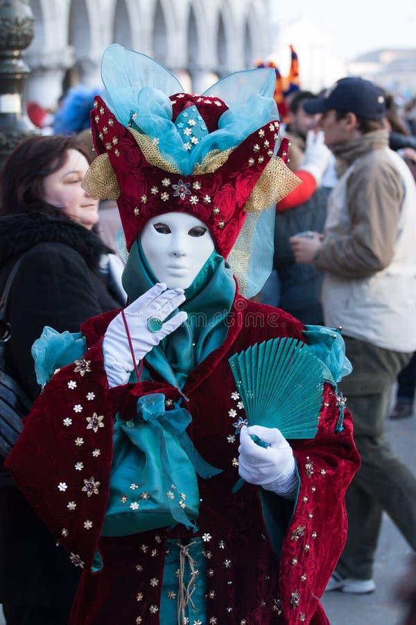 Portrait masque du beau et de carnaval représentant le ciel et les étoiles à Venise images stock