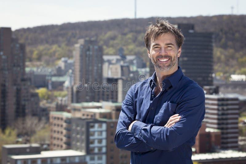 Portrait Of A Mature Active Man Smiling stock photo