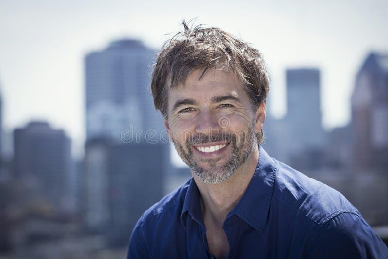 Portrait Of A Mature Active Man Smiling stock images