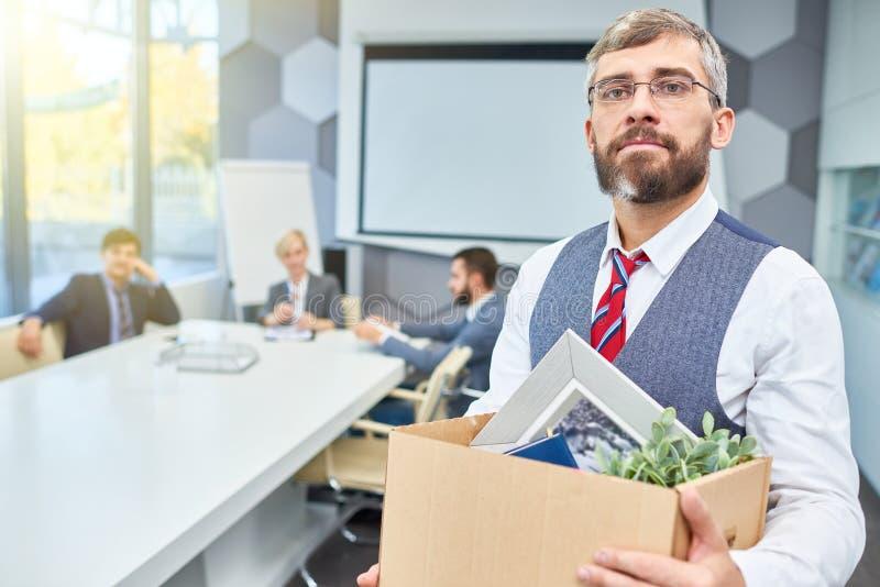 Mature Businessman Leaving his Job stock photos