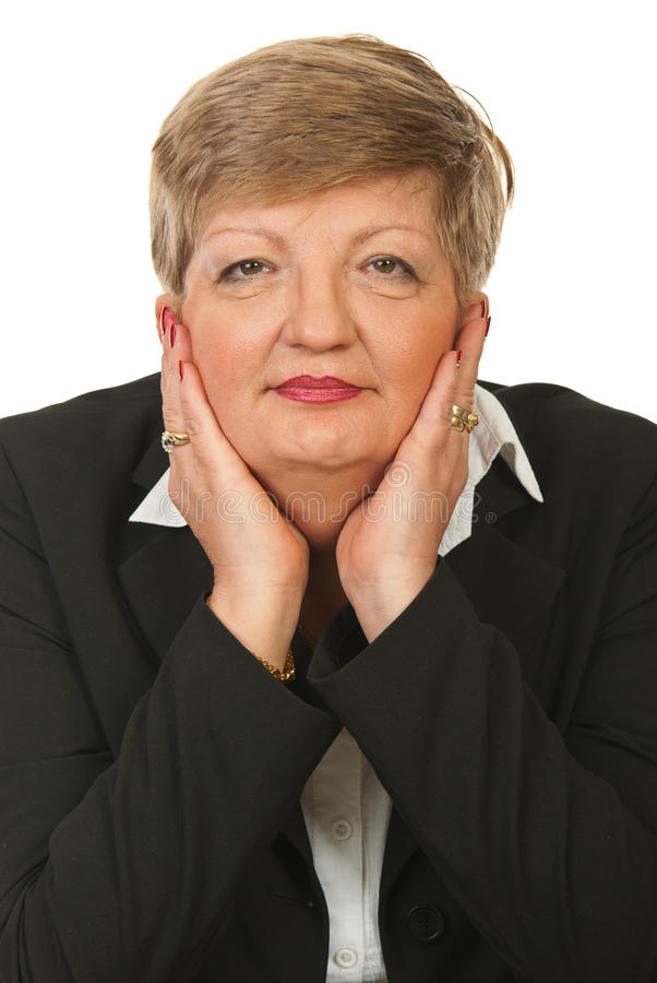 Portrait of mature business woman royalty free stock photography