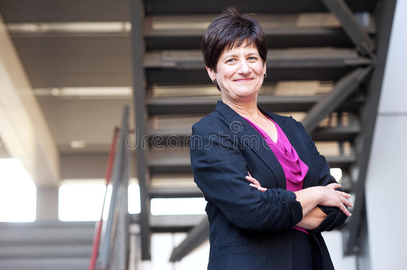 Portrait of a mature businesswoman. Taken outside royalty free stock photos