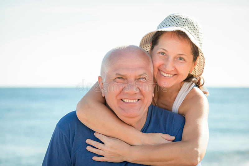 Portrait of mature couple stock images