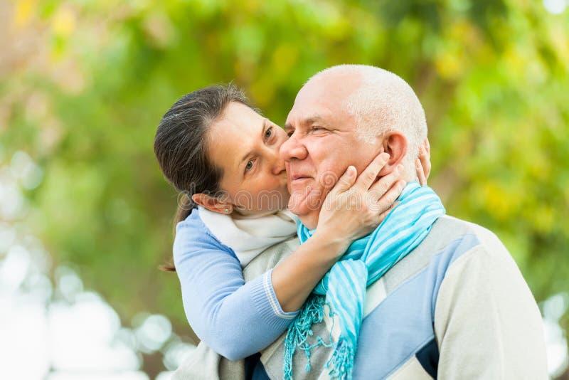 Download Portrait Of Mature Couple In Autumn Park Stock Image - Image: 43642737