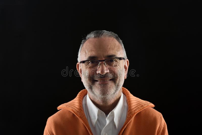 A Portrait of a mature man royalty free stock images
