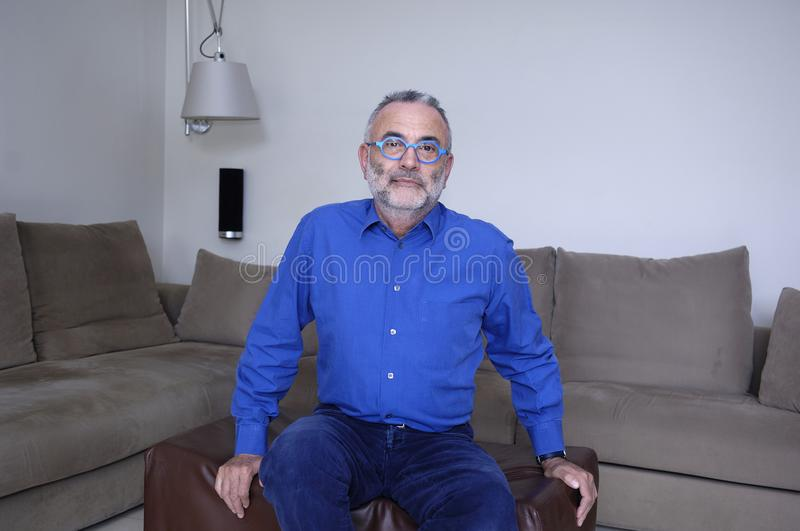 A portrait of a mature man stock photo