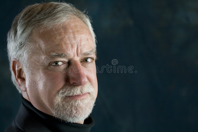Portrait of a mature man royalty free stock photo