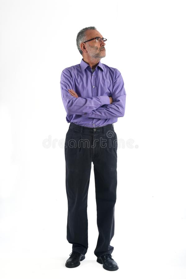 A Portrait of a mature man full body royalty free stock photography