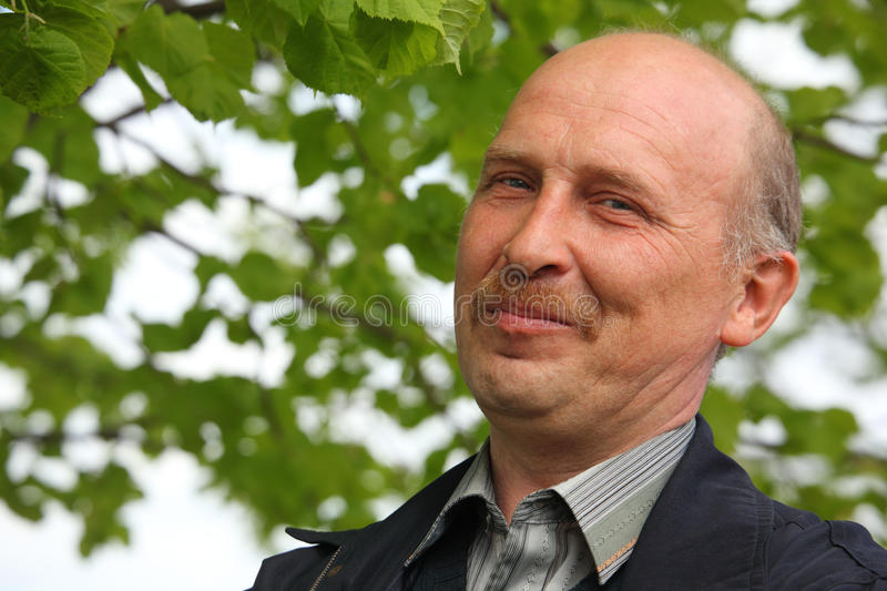 Portrait of mature man outdoor royalty free stock image
