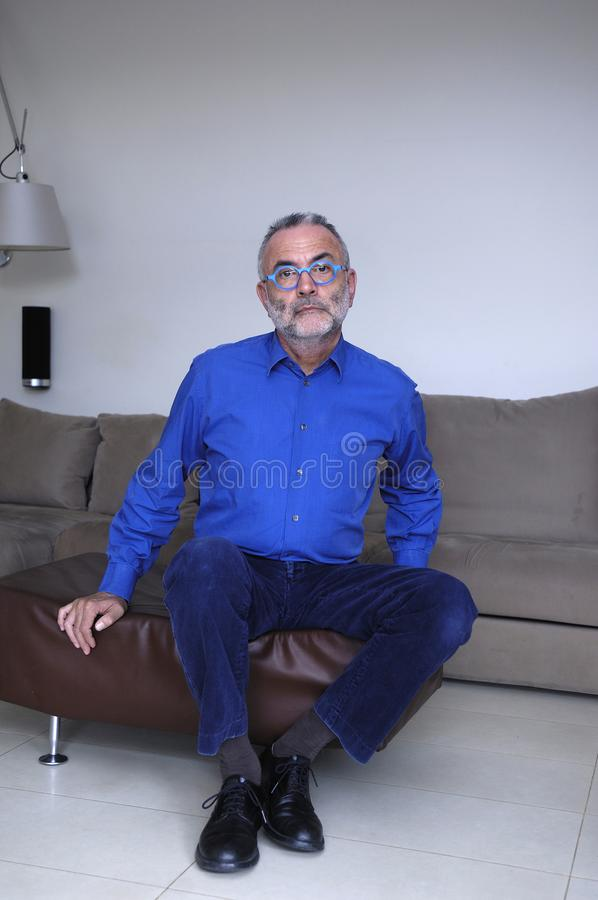 Portrait of a mature man stock photography