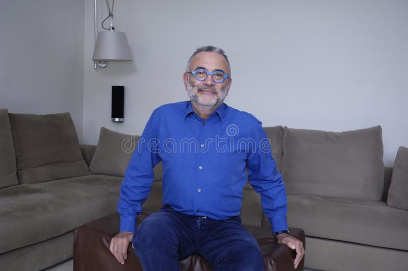 Portrait of a mature man, royalty free stock photos