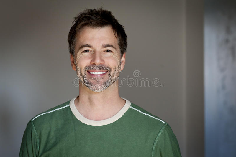 Portrait of a mature man smiling stock photography