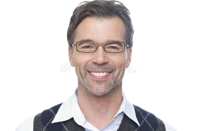 Portrait Of A Mature Man Smiling At The Camera royalty free stock image