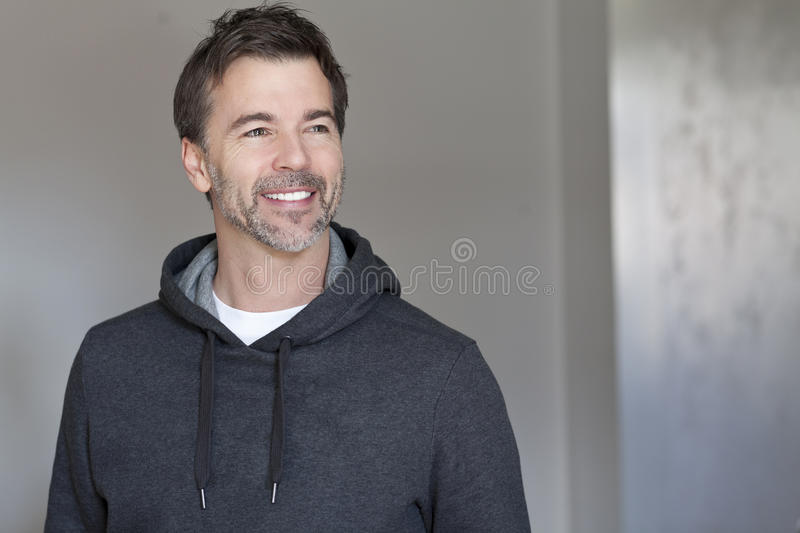 Portrait of a mature man smiling royalty free stock image