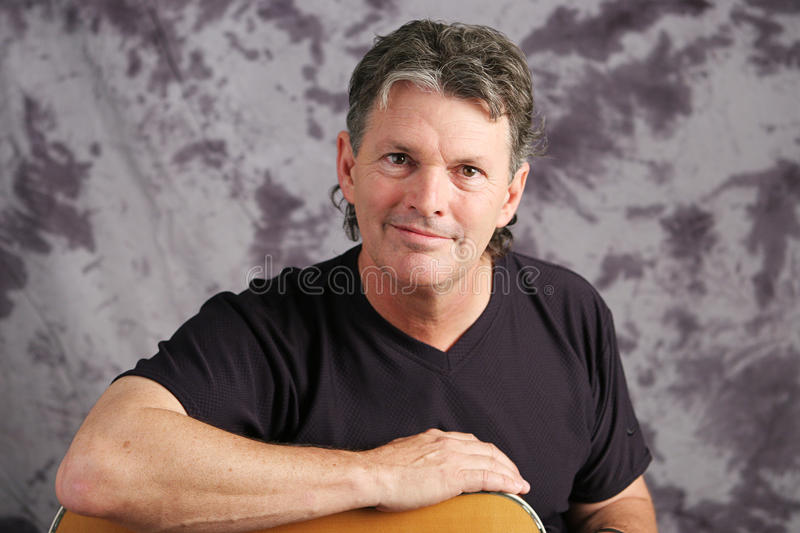 Portrait of Mature Musician royalty free stock photo