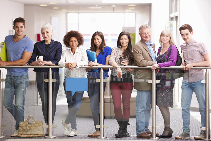 Portrait Of Mature Students On Further Education Course royalty free stock photography