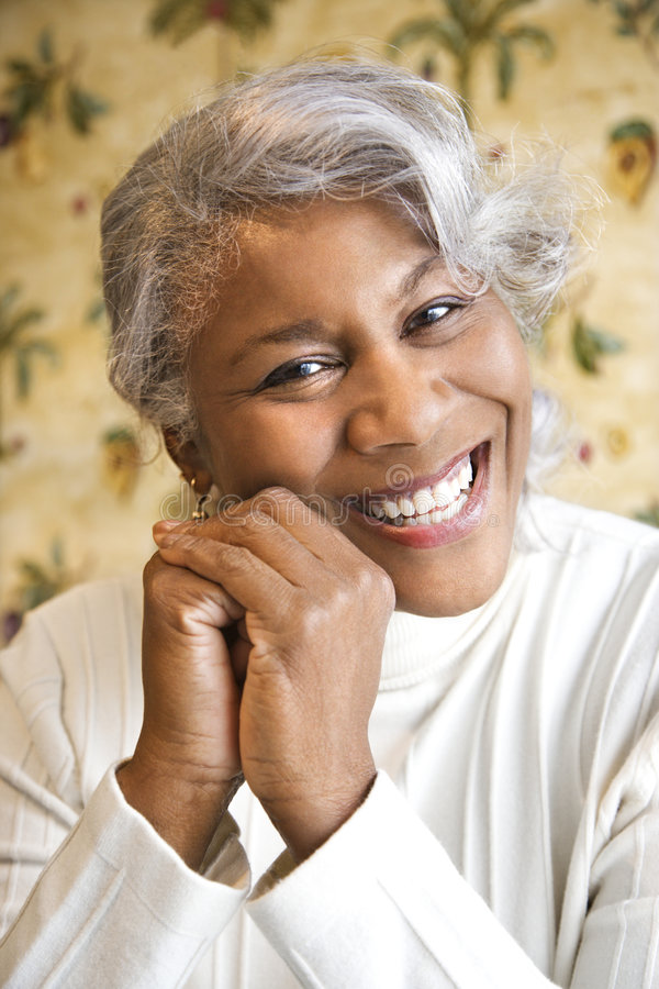 Portrait of mature woman. royalty free stock image