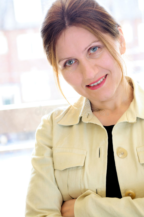 Portrait of a mature woman stock images