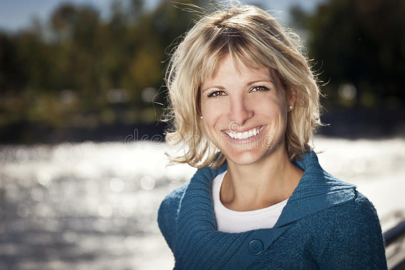 Portrait Of A Mature woman smiling royalty free stock photo
