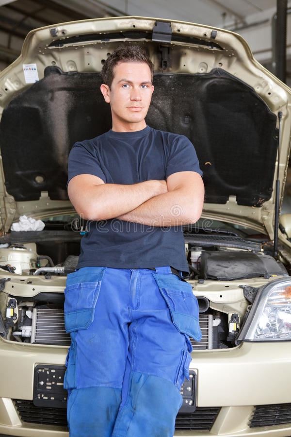 Download Portrait of a Mechanic stock image. Image of attitude - 20300099