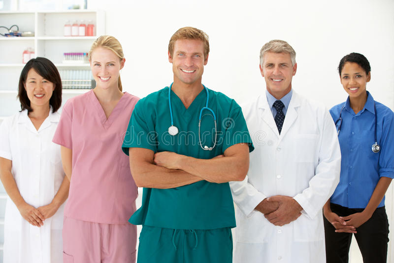 Portrait of medical professionals royalty free stock image