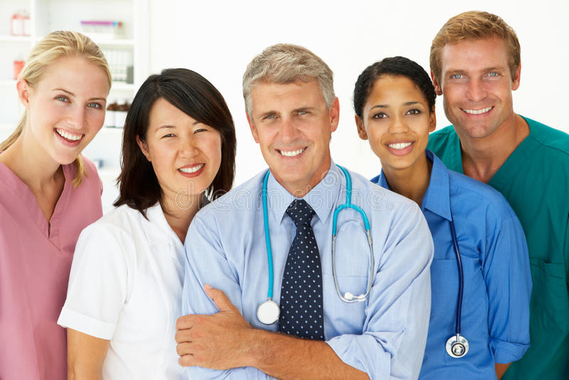 Portrait of medical professionals stock photos