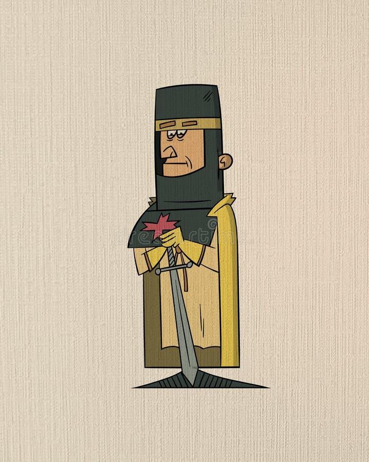 Portrait medieval stock de ilustración