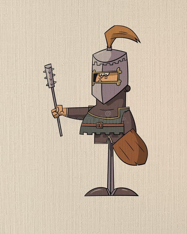 Portrait medieval ilustración del vector