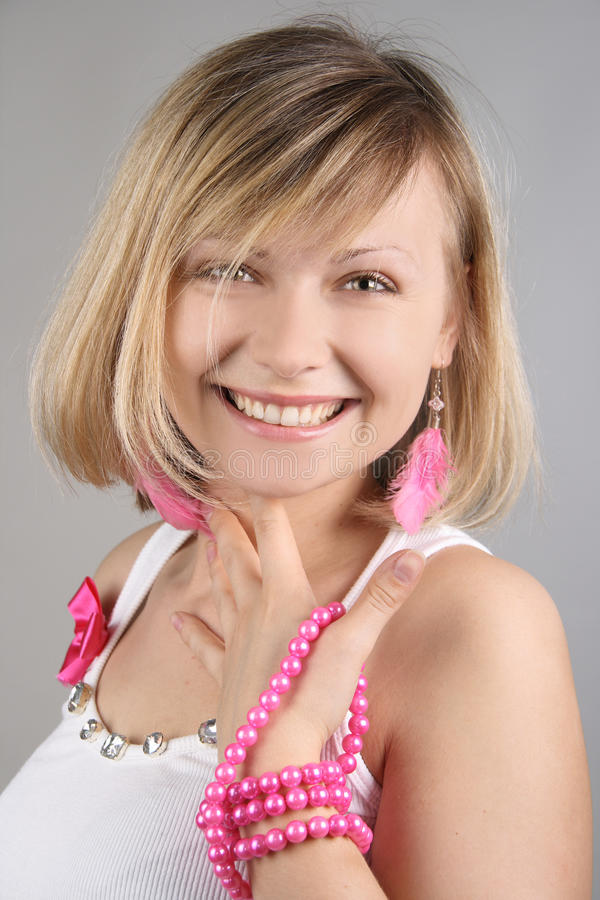 Download Portrait Of Merry Pretty Glamourous Girl Stock Image - Image: 15019099