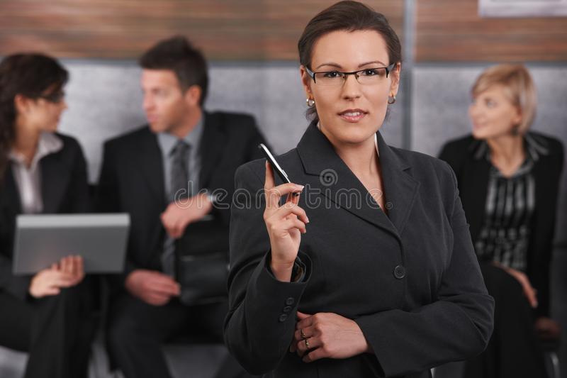 Download Portrait Of Mid-adult Businesswoman Stock Photo - Image: 13666490