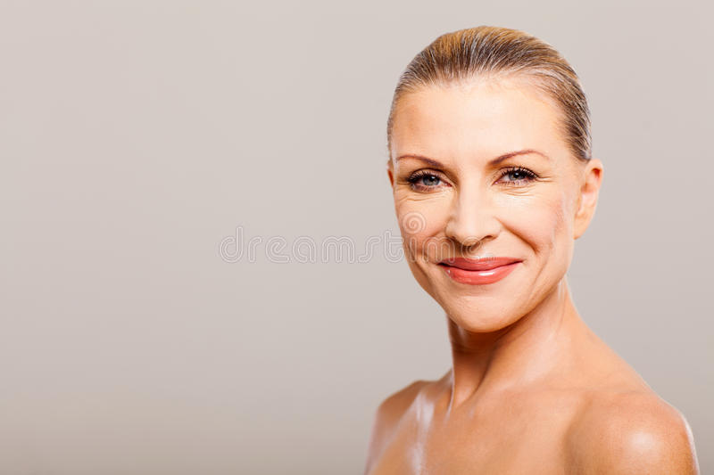 Mid age woman royalty free stock images