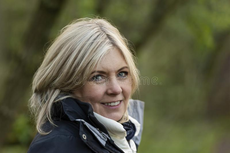 Portrait - Middle aged blonde  woman royalty free stock photo