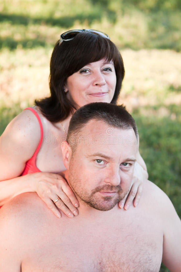 Portrait of a middle-aged couples stock photography