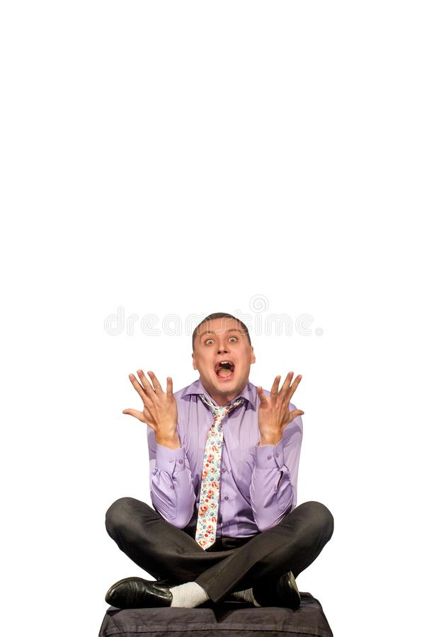 Portrait of a middle aged emotional man royalty free stock photography