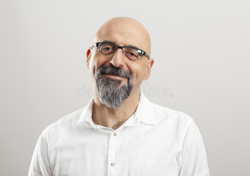 Portrait of middle aged man royalty free stock photos