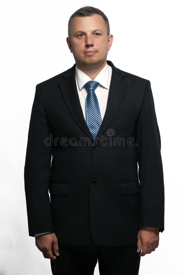 Portrait of a middle-aged man in a suit. stock photography