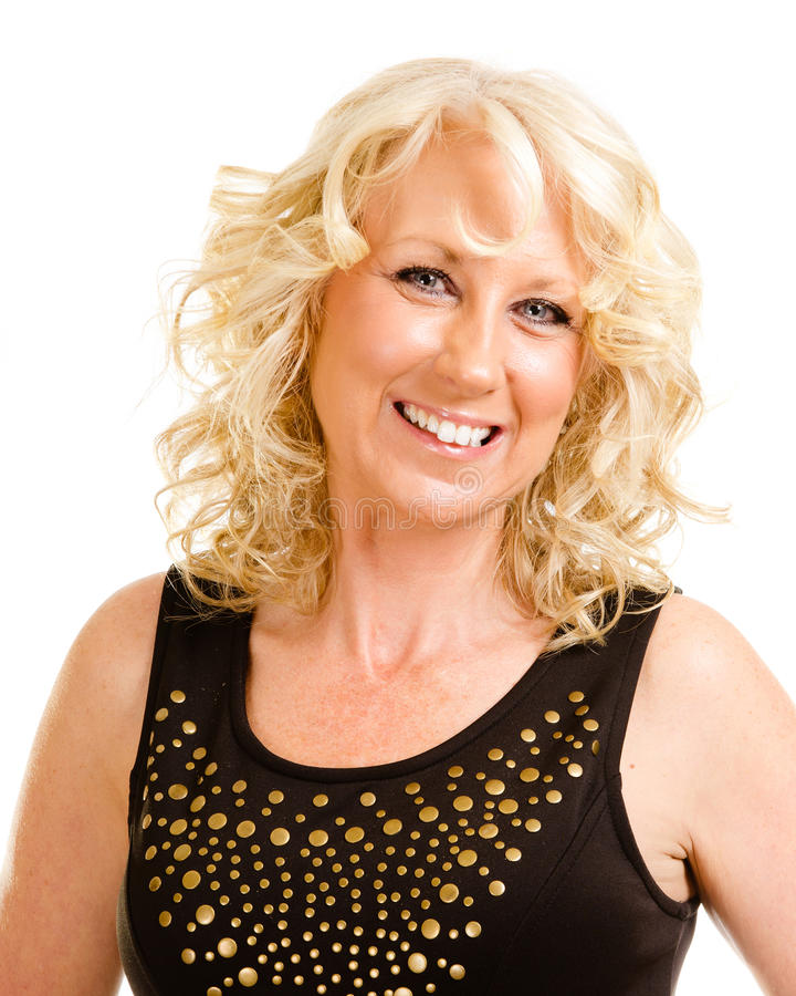 Portrait of middle-aged woman royalty free stock images