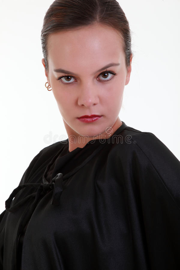 Download Portrait Of Mistery Pretty Woman Stock Image - Image: 27087337