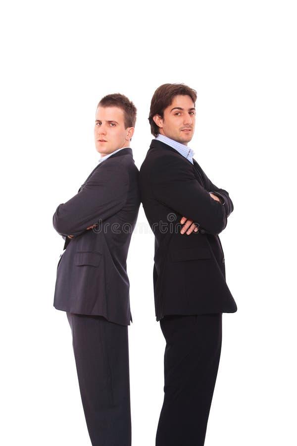 Portrait mit zwei Geschäftsleuten stockbild