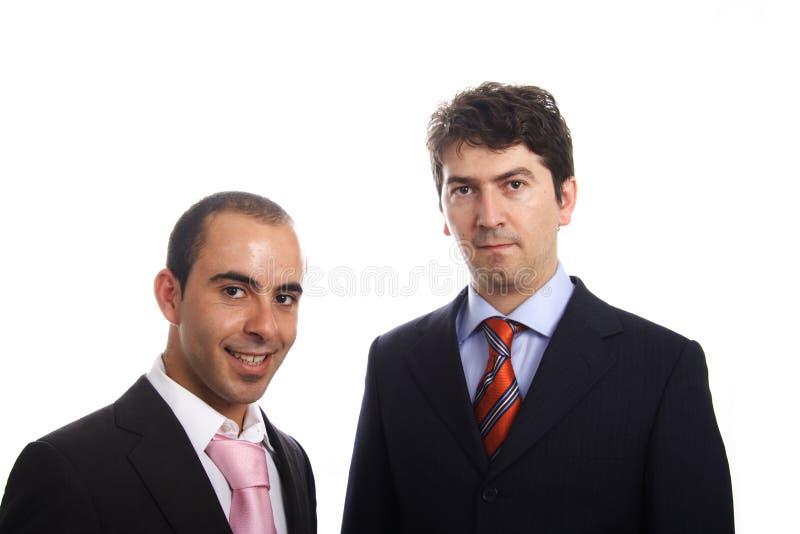 Portrait mit zwei junges Geschäftsleuten stockfoto