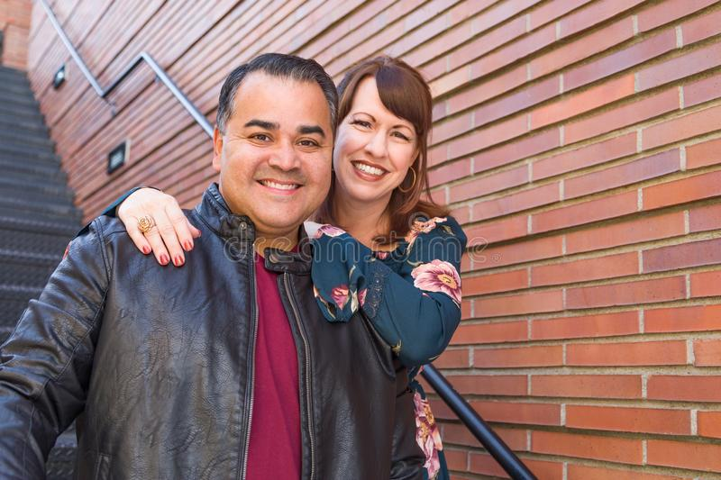 Mixed Race Caucasian Woman and Hispanic Man royalty free stock images
