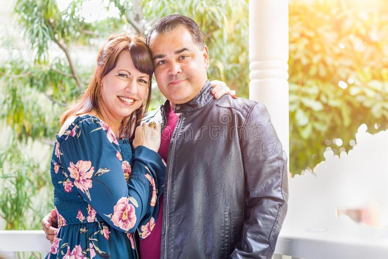 Portrait of Mixed Race Caucasian Woman and Hispanic Man royalty free stock photography