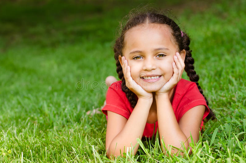 Portrait of mixed race girl royalty free stock photos