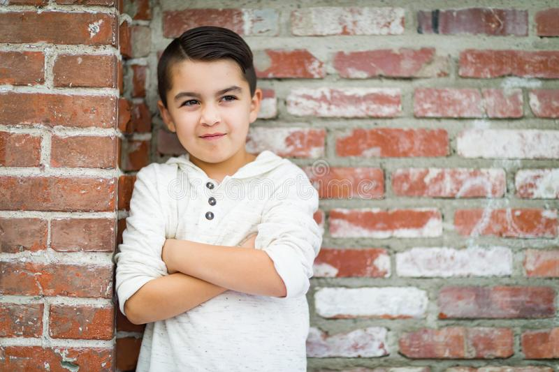 Portrait of Mixed Race Young Hispanic Caucasian Boy. Portrait of Mixed Race Young Hispanic and Caucasian Boy royalty free stock images