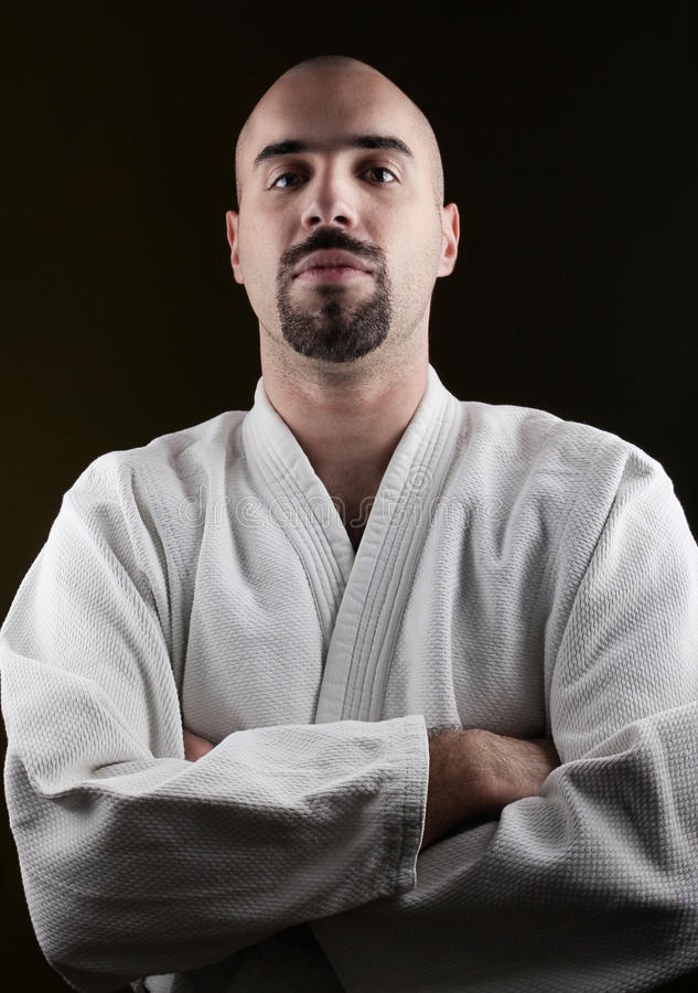 Portrait of MMA master stock images