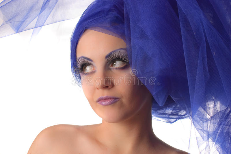 Download Portrait Of A Model With An Unusual Makeup Stock Photo - Image of isolated, head: 12540444